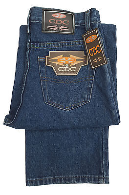 Boys Cdc Loose Fit Zip Fly Jeans Stonewash Denim - Blue