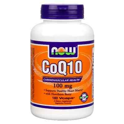NOW Foods Coq10 100mg, 180 Vcaps