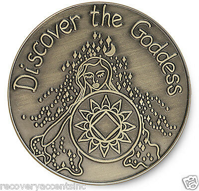 Discover the Goddess  NA 12 Step Recovery Program Coin /Token/Chip Bronze