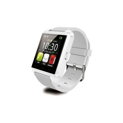 Smartwatch Montre Connectée Bluetooth Blanche Android Apple Iphone Smartphone