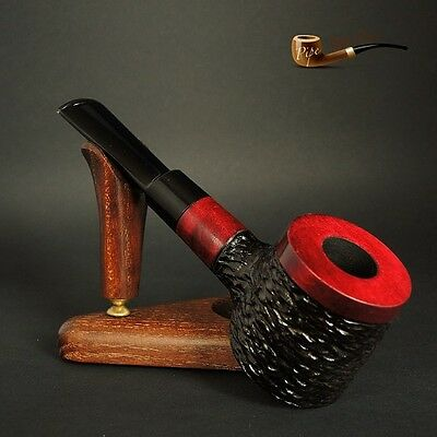 """HAND MADE UNIQUE WOODEN  TOBACCO SMOKING PIPE PEAR  Poker   """" No 63 """"  Red"""