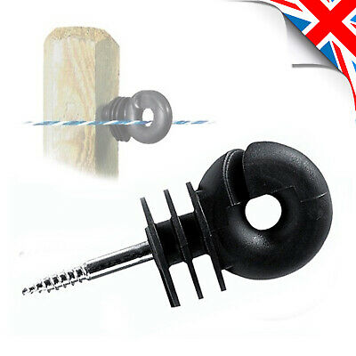 B Ring INSULATOR Screw in Compact 6 mm Screw Fence Electric Fencing