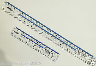 "Helix CLEAR PLASTIC RULER STRONG & DURABLE - (15cm OR 6"") & (30cm OR 12"") RULER"