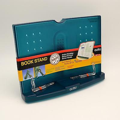 Portable BookStand Reading Desk Book Stand Transparent Blue Actto BST-09