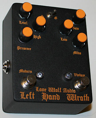 Lone Wolf Audio Effects Pedal, Left Hand Wrath highly tuned HM2, Brand New !