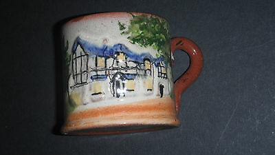 "Torquay Pottery Devon Small Mug ""shakespeare's Birthplace Stratford On Avon"""
