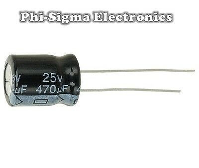 Electrolytic Capacitors (Packs of 10) - Various Values / Voltages