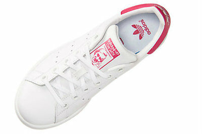 b111d832864 YOUTH KIDS ADIDAS ORIGINALS STAN SMITH B32703 White White Pink ...