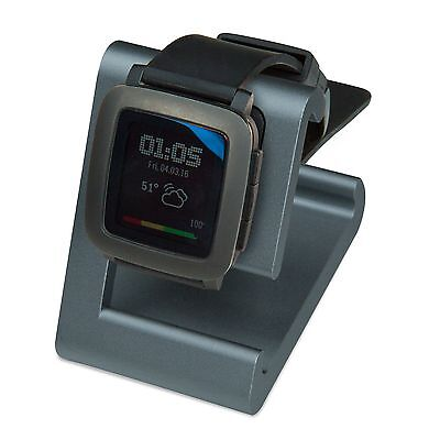 TimeDock Pebble Time Dock for Charging, Stand, Holder Charger GUNMETAL GREY-BLUE