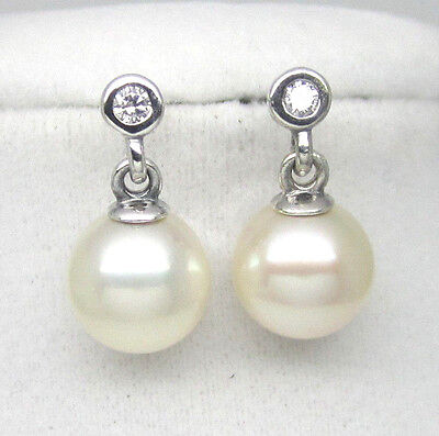 d76df6da3 Authentic Pandora #290694P Luminous Elegance White Pearl Drop  EarringsRETIRED