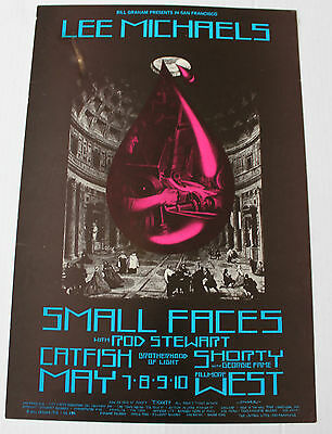 Rod Stewart small faces Concert Poster from 1970! - fillmore san francisco