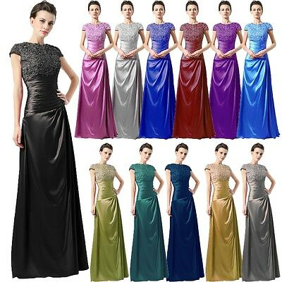 Plus Size Mother Of The Bride Dresses Cap Sleeve Women Formal Evening Prom Gown