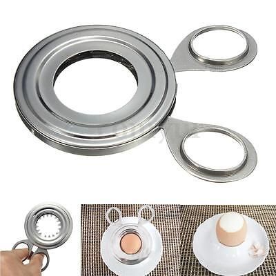100x65mm Home Tool Craft Stainless Steel Boiled Egg Shell Topper Cutter Opener