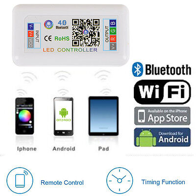 Bluetooth/WIFI Wireless Controller for 5050 3528 RGB LED Strip Light IOS Android