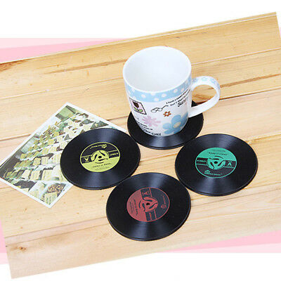 1xUseful Table Cup Mat Decor Coffee Drink Placemat Vinyl CD Record Drink Coaster
