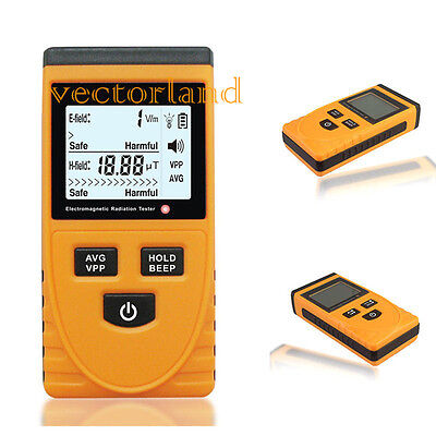 Digital Electromagnetic Radiation Detector Dosimeter Meter Tester LCD UK STOCK