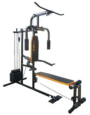 V-fit Herculean LFG2 Lay Flat Home Multi Gym + Conversion Kit + Extra Weights