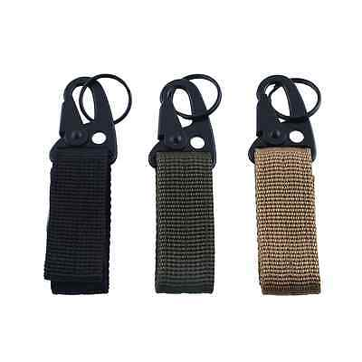 Tactical Military Molle Buckle Hanging Belt Carabiner Clip For Hiking W/Keyring