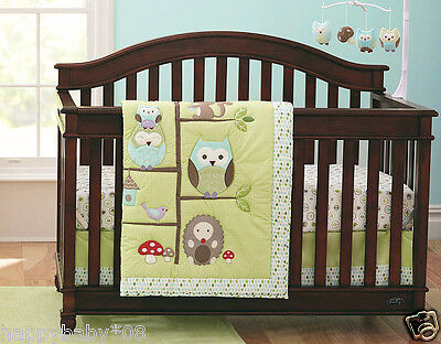 New 7pcs Baby Nursery Bedding Set Quilt Fitted Sheet Bumpers