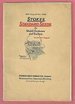 1923 Stokes Standard Seed Catalog for Market Gardeners & Truckers w/ Color Pages