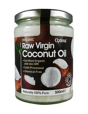 Optima Organic Raw Virgin Coconut Oil 500ml Cooking Health Hair