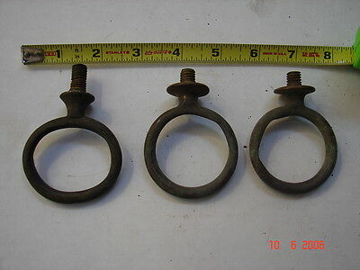 3 Antique Brass Rings with bolt mount - 2 1/4""