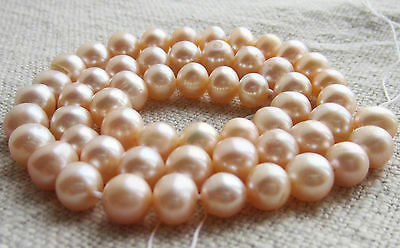 """Natural Freshwater Pearl Strand, Peach, 15"""", 7mm pearls"""