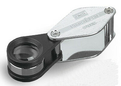 Donegan V394-20 Achromatic Swing-Out 20X Magnifier in Chrome Plated Brass Case
