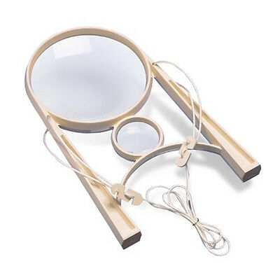 "Donegan Ezy-Mag Hands-Free Magnifier with Large 4"" Lens & a Small Hi-Power Lens"