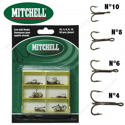 Assortiment 24 Hameçons Triples Mitchell