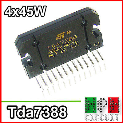 TDA7388 Amplificatore Audio Integrato 4 Canali 4x 45W