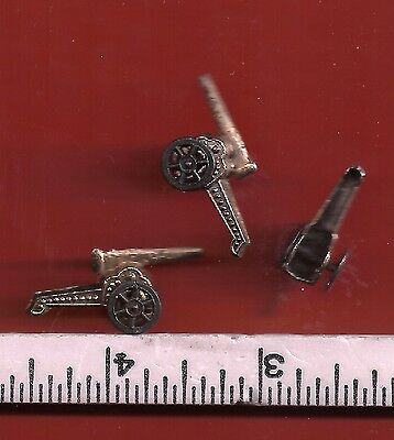 1940's Cracker Jack Metal Charms .. Lot of 3 CANNONS