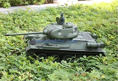 1/16 2.4G RC Henglong Smoke & Sound Russian T34-85 Tank Metal Gearbox