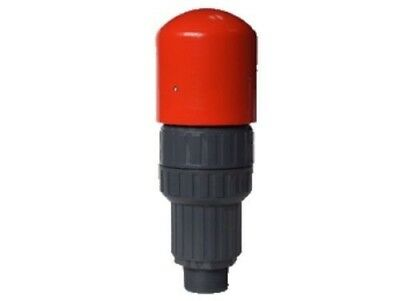 "PVC Air release & vacuum combination valve male threaded 1-1/2"" inch : LD Brand"