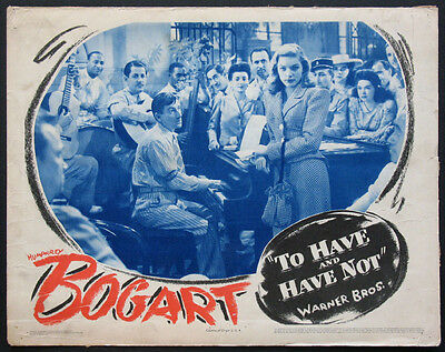 To Have And Have Not Lauren Bacall Humphrey Bogart 1944 Lobby Card