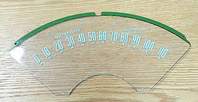 1955 1956 Chevy Speedometer Plastic Lens Face , New ** Usa Made **