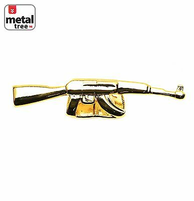 Hip Hop 14K Gold Plated AK-47 DOUBLE Top Two Tooth Cap Gun GRILLZ