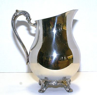 Silver Plated Water Pitcher by F.B. Rogers Silver Company w/ice lip