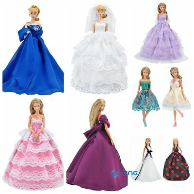 15 Styles E-TING Fashion Princess Wedding Party Dress Clothes For Barbie Doll K