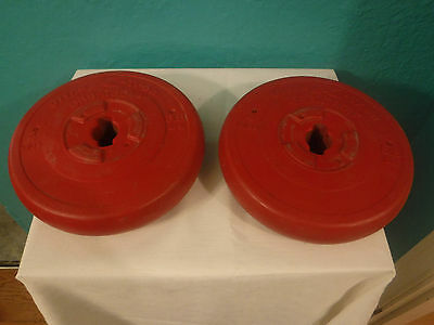 Orbatron Ultra K-Tron 8.8 lbs Pounds 4 Kilos Dumbell Weight Set Red Weights