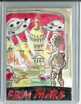 2013 Topps Mars Attacks Invasion Jason Atomic Color Sketch Puzzle Piece Card