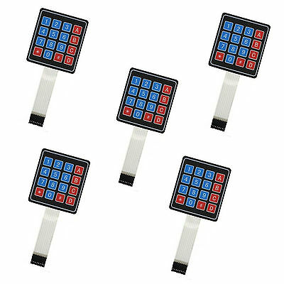 5pcs 4x4 Matrix Array 16 Key Membrane Switch Keypad Keyboard for Arduino AVR PI