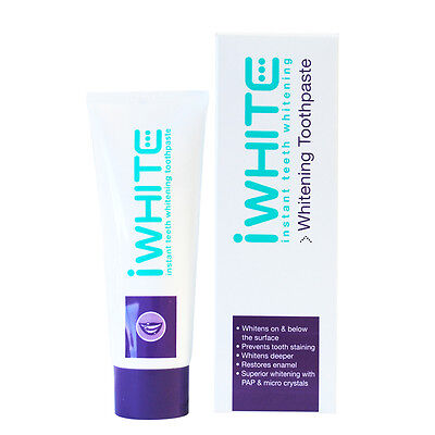 iWhite Instant Toothpaste 75mL - Easy to use, at home teeth whitening