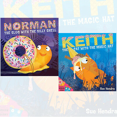 Sue Hendra Collection 2 Books Set Norman the Slug with a Silly Shell , New