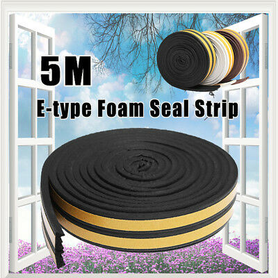 5M E type Draught Self Adhesive Window Door Excluder Seal Strip Rubber Seal Hot