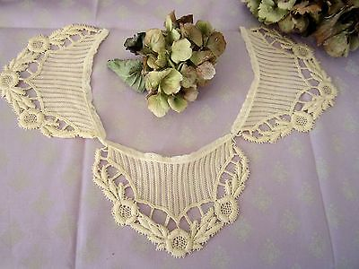 Vintage French Fine Lace Collar  Guipure Ladies 1930's