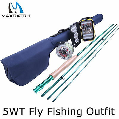 5WT Fly Rod And Reel Combo 5/6WT Pre-loaded Fly Reel & Fly Box & Flies Rod Tube