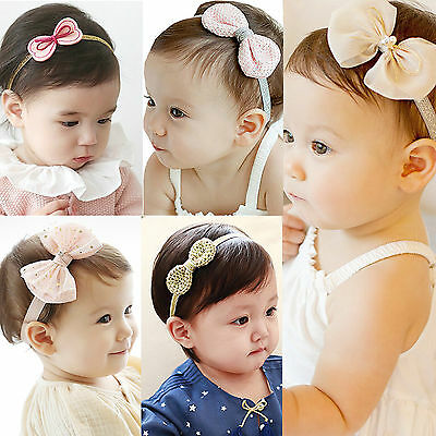 Best Kids Baby Girl Toddler Bow Headband Hair Band Headwear Hair Accessories
