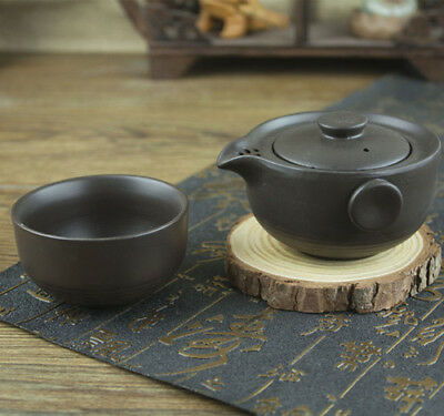 Chinese tea set portable kung fu tea sets purple clay tea pot with infuser cup