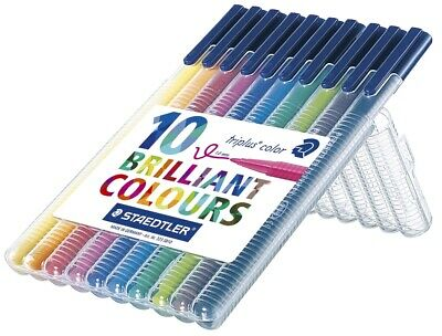 Staedtler® Fasermaler triplus® color 323 - ca. 1,0 mm, Box, 10 Farben